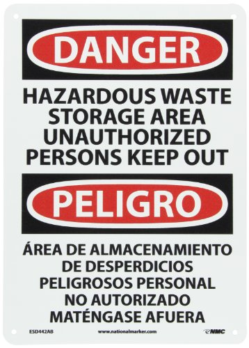 NMC ESD442AB Bilingual OSHA Sign, Legend