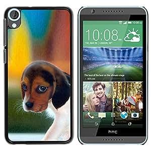 PC/Aluminum Funda Carcasa protectora para HTC Desire 820 Pocket Beagle Puppy Dog Harrier / JUSTGO PHONE PROTECTOR
