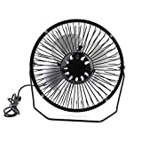 Dilwe Solar Panel Powered Fan, 5W 5.5V Folding USB Rechargeable Cooling Ventilation Fans for Garden Outdoor