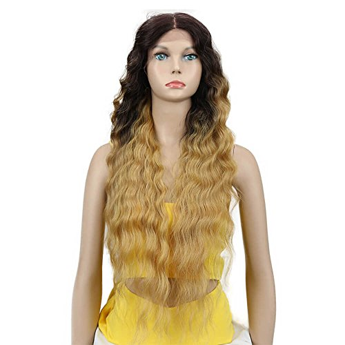 Amazon.com : Joedir Lace Front Wigs 30 Long Wavy Synthetic Wigs For Black Women 130% Density Wigs(TTPN4/270A/24F) : Beauty