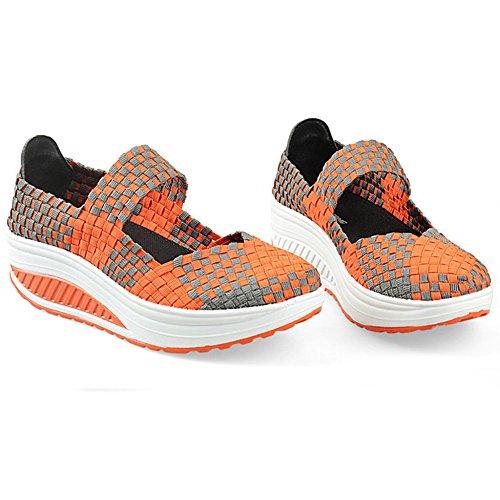 XiaoYouYu Damen Mode Sportschuhe Runners Outdoor Sneakers Orange