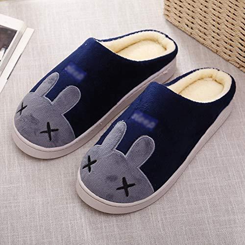 In Blu E Donna Legno Casa Pantofole Uomo Cotone Di Per Pavimento Deed Caldo  Prussia Inverno w1qZETpp dda0f83ca8e