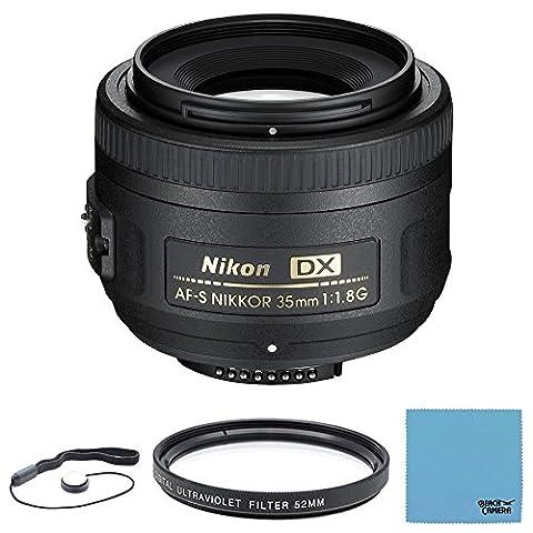 Nikon AF-S DX NIKKOR 35mm f/1.8G Lens with Auto Focus for Nikon DSLR Cameras (Nikon 85 Mm D)