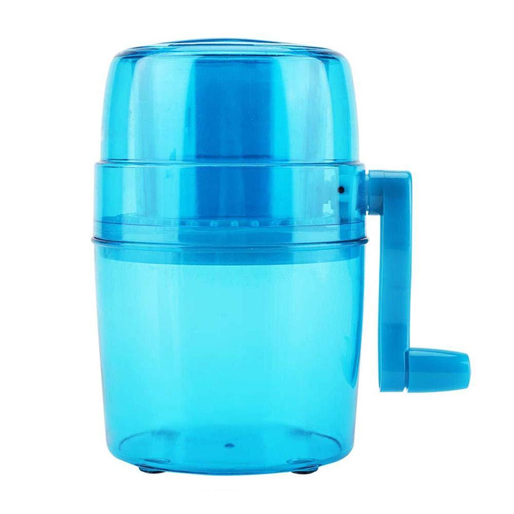 Hamkaw Broyeur /à Glace Manuel Portable Broyeur /à Glace Facile /à Utiliser pour la Cuisine /à Domicile Bleu