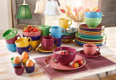 Creatable 14016 Serie Top colours, Eierbecher 6 teilig, Porzellan, mehrfarbig, 17  x  11  x  6 cm,  6 Einheiten