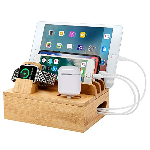 Charging Stations for Multiple Devices, 30W Desktop Docking Station with 6 Fast USB Charging Ports for Cellphone,Notebook,Smart Watch,Air Pod&Other USB Devices
