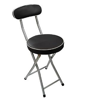 PEGANE Chaise Pliante En Metal Coloris Noir