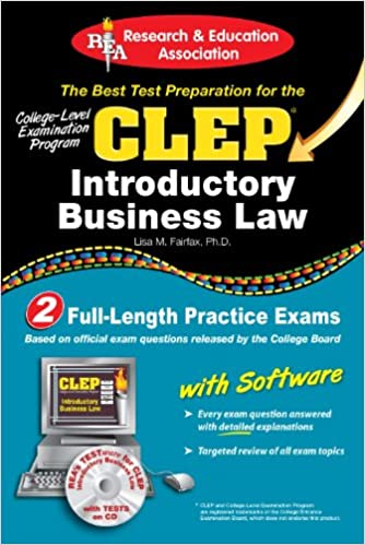 Amazon com: CLEP® Introductory Business Law with CD (CLEP