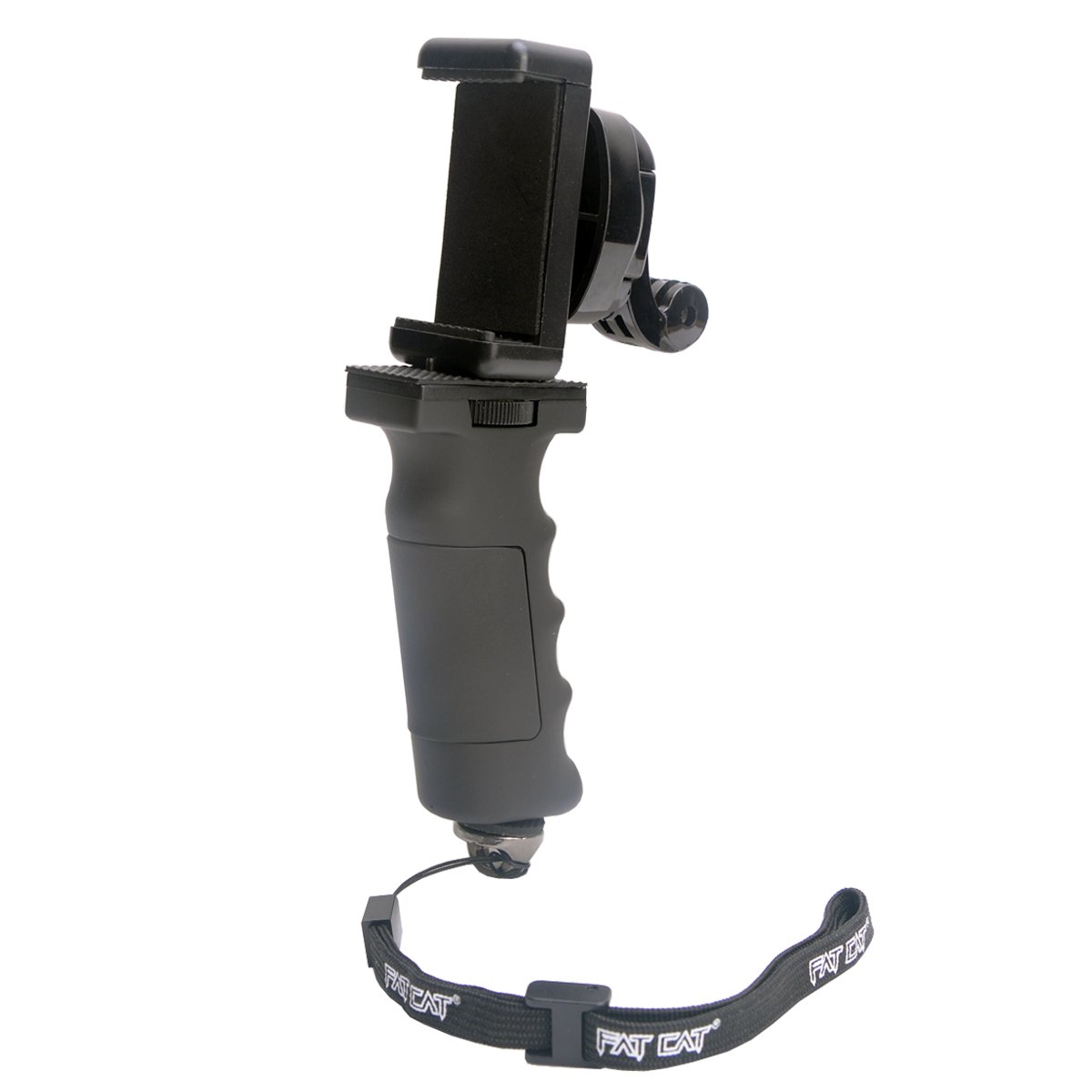 Ergonomic Action Camera Handle Grip Support w/ Smartphone Clip for GoPro Grip Holder Support for GoPro Hero 5 /4/3/Session Garmin Virb XE Xiaomi Yi SJCAM Hand Grip Mount Selfie Stick by non-brand (Image #5)