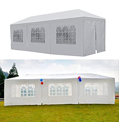 GOJOOASIS Canopy Tent Wedding Party Tent 10' x 30' with 8 Removable Walls Heavy Duty Outdoor Gazebo