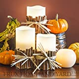 BEST FLAMELESS CANDLES WITH 12 COLOR, TIMER REMOTE CONTROL, Unscented Flickering Battery Operated Electric Candle for Home Decor, Weddings, Parties & Gifts, Set of 4' 5' 6' Pillars & BONUS Ball Candle