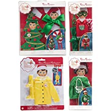 Elf on the Shelf 2017 Value Outfit Pack: Hoodie, 2 Christmas Costumes, Super Hero Outfit, Raincoat