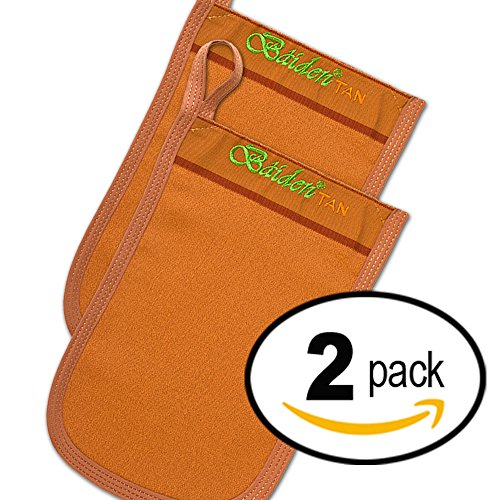 Spray-Tan Remover 2 pack Baiden Tan Gloves. Fix or Remove Spray, Self, Fake & Sun or Sunbed Tan. Best Rated Exfoliation Mitts. No More Stained Knees, Elbows or Tanning Solution Build up. Natural, Safe