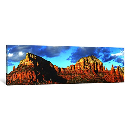 iCanvasART 1 Piece Chapel on rock formations, Chapel of The Holy Cross, Sedona, Arizona, USA Canvas Print by Panoramic Images, 36 x 12/0.75'' Deep by iCanvasART
