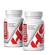 Fat loss activation - L-Taurine 500MG - Taurine powder now - 2 Bottle (200 Capsules)