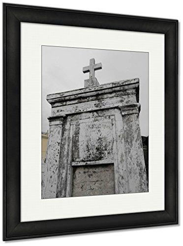 Ashley Framed Prints St Louis Catholic Cemetery New Orleans Louisiana USA, Wall Art Home Decoration, Color, 35x30 (frame size), Black Frame, AG6544555 by Ashley Framed Prints