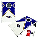 Victory Tailgate Baggo Portable All-Weather Cornhole Boards Game Set, NFL Vintage with Matching Corn-Filled Bags