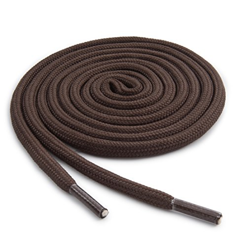 OrthoStep Round Athletic 54 inch Brown Shoelaces - Durable and Sturdy Boot Laces 2 Pair Pack