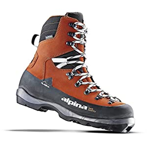 Alpina Sports Alaska Leather Backcountry Cross Country Nordic Ski Boots, Euro 38, Red