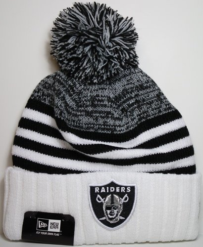 Image Unavailable. Image not available for. Color  Oakland Raiders New Era  NFL Snowfall Stripe Cuffed Knit Hat d3072e1a0