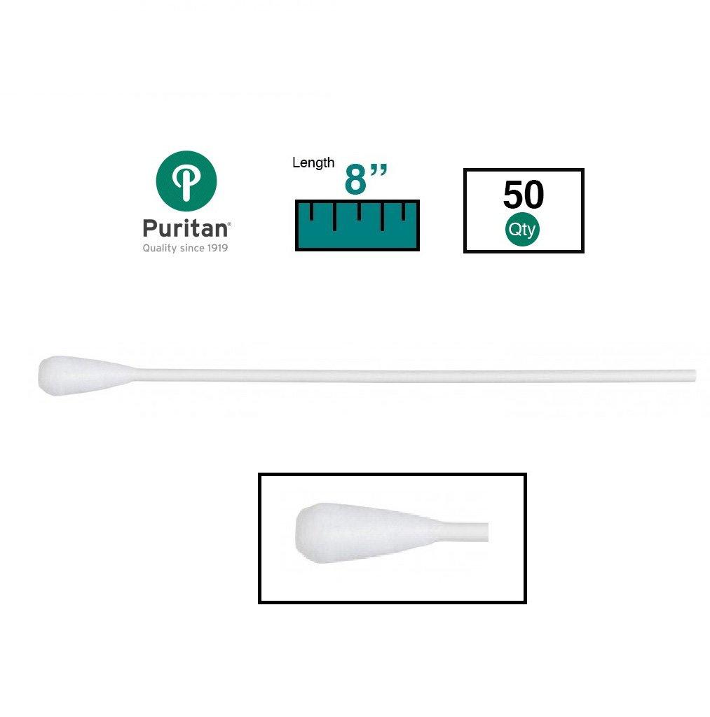 Puritan Medical 8'' Oversized Rayon OB/GYN Swab w/Paper Handle - 808 (Box of 50)