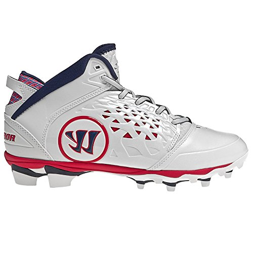 Warrior ADONIS99 Mens Adonis Lacrosse Cleats White red Blue 11.5 D – DiZiSports Store