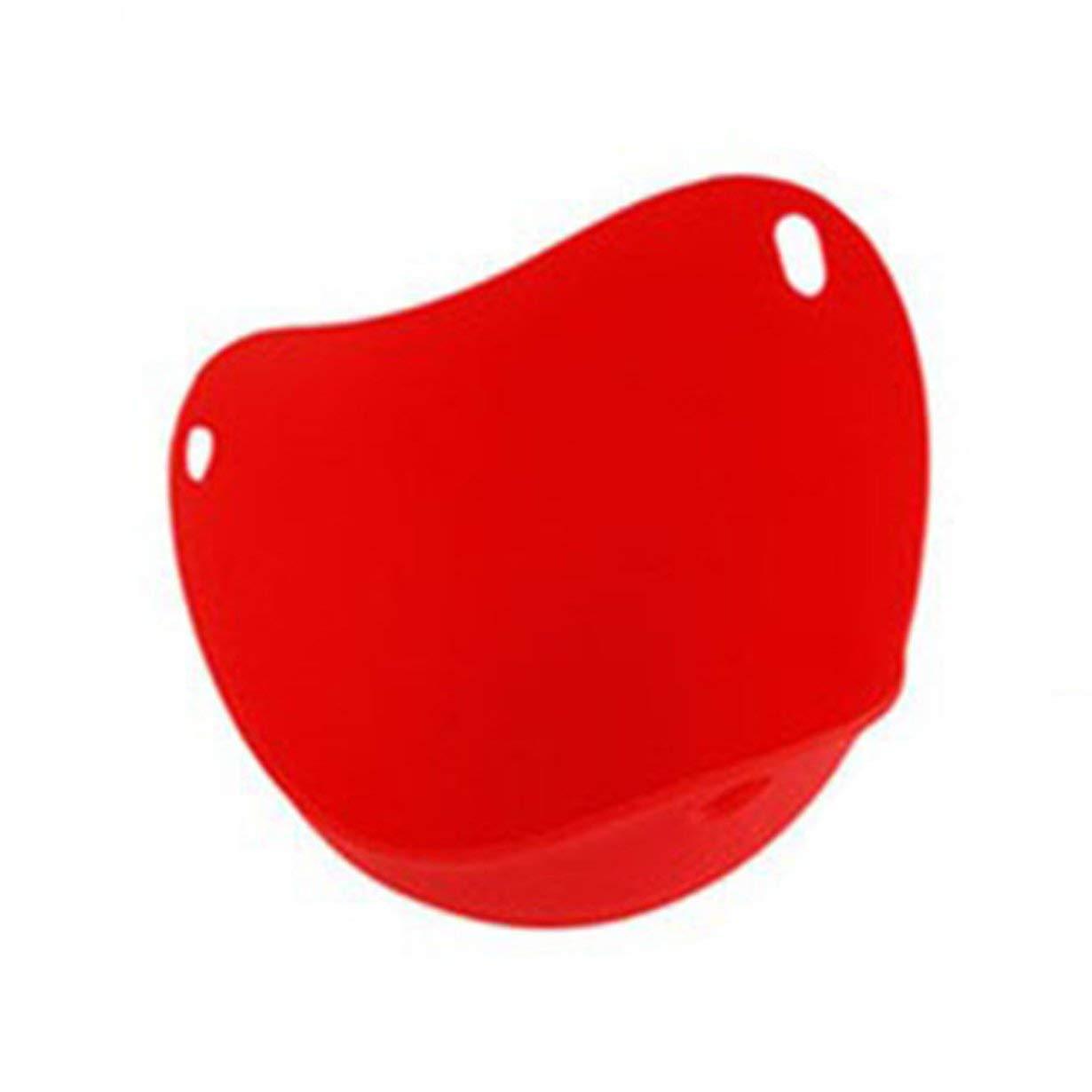 Pochar huevo utensilios de cocina Molde pr/áctico vainas herramienta Copa Cocina Cocinar cazador furtivo de silicona para hornear cocinar huevos escalfados rojo