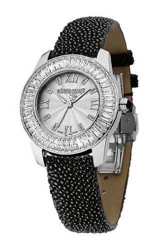 Roberto Cavalli Fugit R7251147515 - Reloj de mujer de cuarzo, correa de piel color negro