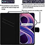 HUPSHY Faux Leather Flip Case Back Cover for Realme 8 5G Foldable Stand and Inside Card Pocket|Shockproof with 360…