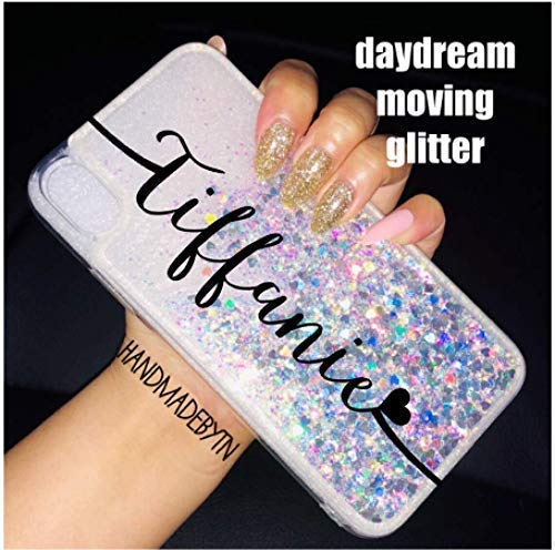 Personalized liquid holographic silver glitter Phone case iphone xs max, iPhone Xr, iPhone x, iPhone 8, iPhone 8 PLUS, iPhone 7, iPhone 7 PLUS, iPhone 6/6S, iPhone 6/6S PLUS, Samsung galaxy case