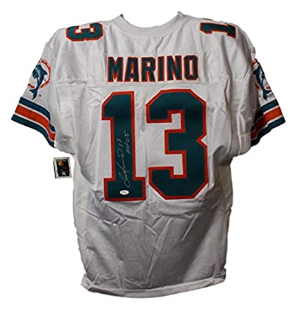 new products 130e9 47bed Dan Marino Autographed Miami Dolphins White Wilson 52 Jersey ...