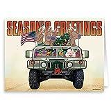Army & Marine Christmas Card - Military 18 Cards & Envelopes