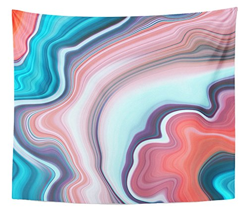 Emvency Tapestry Abstract Marbled Liquid Paint Marbling Effect