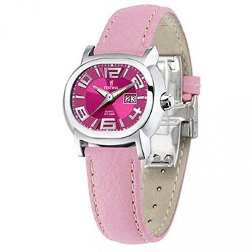 Festina de mujer reloj de pulsera; Mambo analógico de acero inoxidable F16127/B: Amazon.es: Relojes