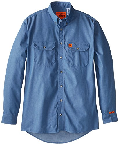 Wrangler Men's Tall Riggs Workwear Denim Shirt, Antique Blue, X-Large