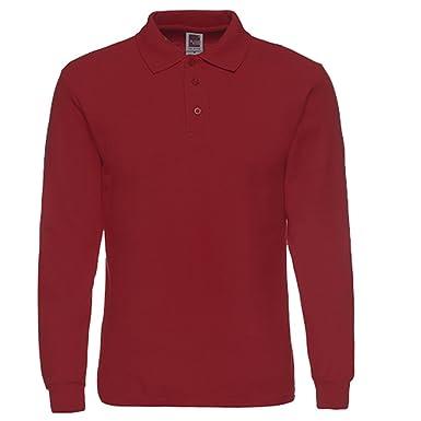 3e8b4fd0 NeedBo Men's Long Sleeve Casual Solid Golf Polo Shirt: Amazon.ca ...