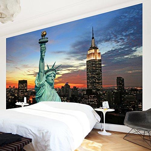 Papier Peint Mural Non Tissé Motif New York La Nuit Papier Peint