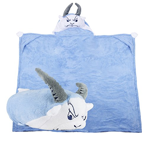 Comfy Critters Stuffed Animal Blanket - College Mascot, University of North Carolina 'Rameses' - Kids huggable pillow and blanket perfect for the big game, tailgating, travel, and much more by Comfy Critters