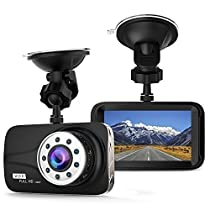 Y-hera 3.0 Dash Camera for Cars with Full HD 1080P Front , 170 Degree Super Wide Angle Cameras for Cars, G-Sensor, Night Vision, WDR, Loop Recording