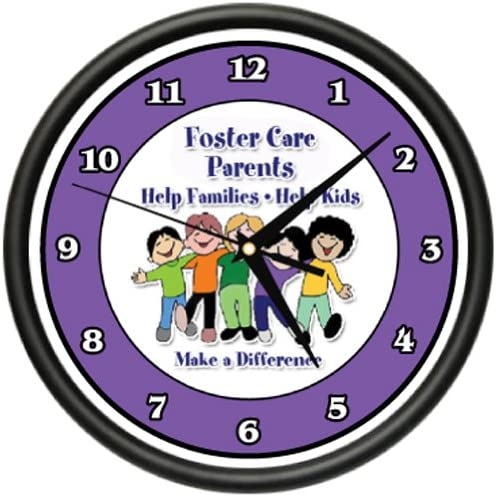 Foster Care Parents Wall Clock Social Worker Foster Kids Child Care Gift