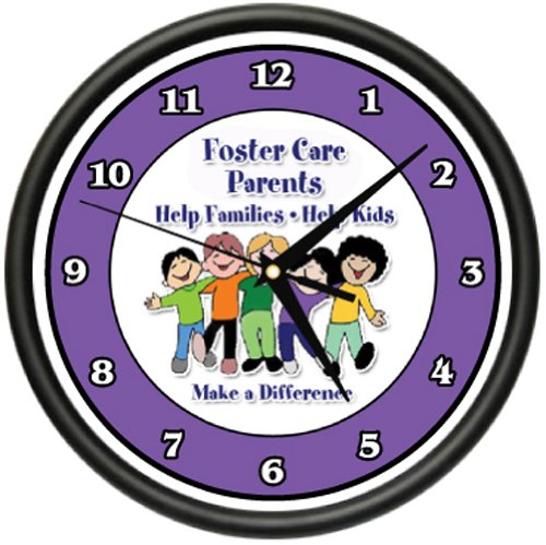 Amazon.com: FOSTER CARE PARENTS Wall Clock social worker foster kids child care gift: Home & Kitchen
