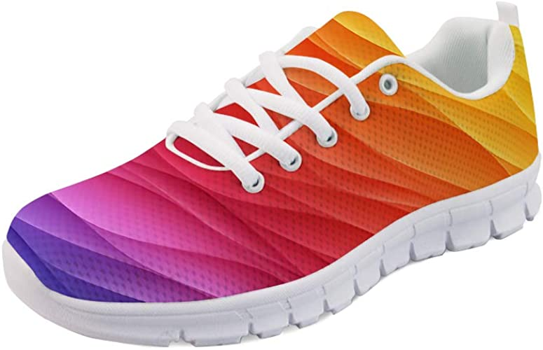 colorful womens tennis shoes