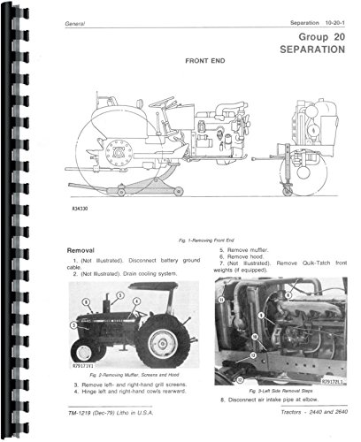 - Service Manual John Deere 2640 2440 Tractor Technical Sn 341,000 & Up tm1219