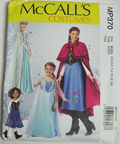 Mccall's Mp370 Costume Pattern for Frozen, Size