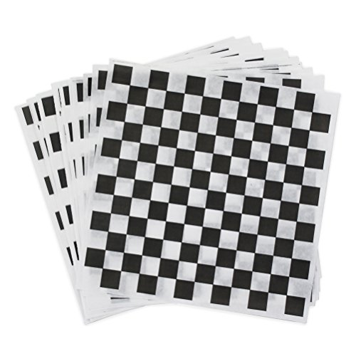 (Black Check Dry Wax Paper Deli Wrap and Basket Liner (Checkered 12x12, pack of 100))