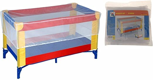 atmungsaktives Netz Kissen gepolstert faltbar tragbar Kinder Farbe Blau Reisebett mit Moskitonetz Baby Netz weich Insektenschutz Wiege B/ären