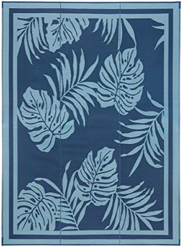 Faulkner Deluxe 48896 Multi-Purpose Paradise Mat, 9 x 12 , Blue