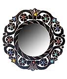 Worthy Shoppee Wooden Fancy Wall Hanging Mirror
