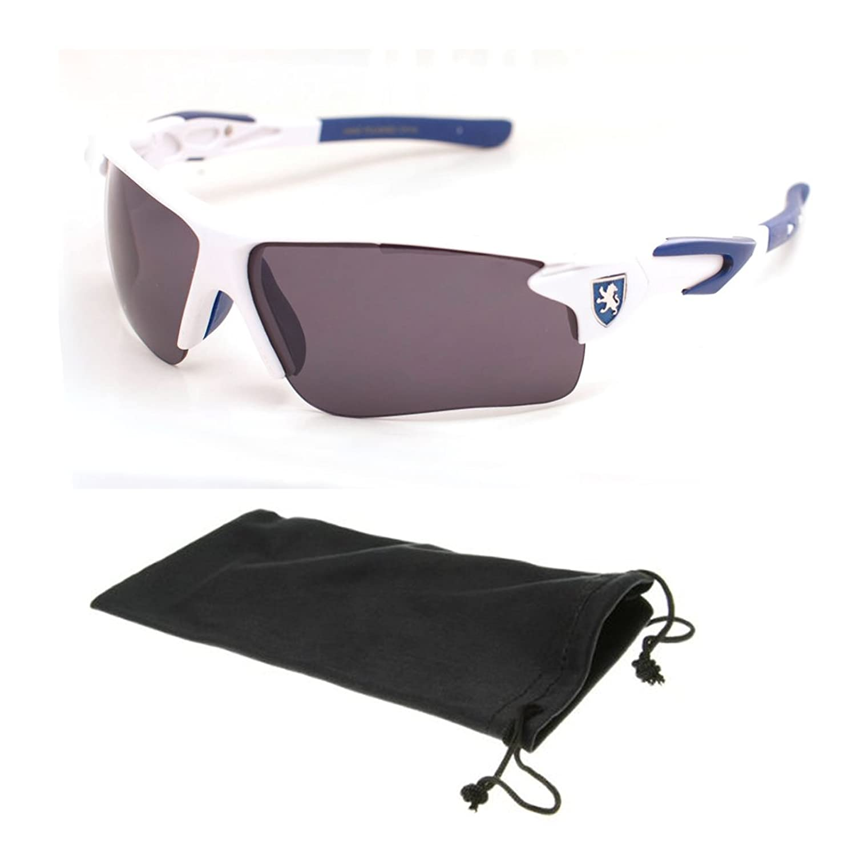 Designer Fashion Mens Wrap Super Dark Lens KHAN Plastic Sporty Flak Sunglasses