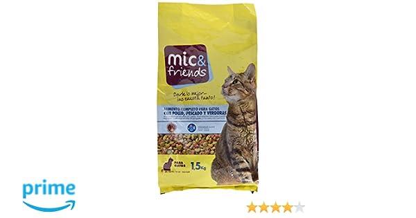Mic & Friends Alimento Completo para Gatos con Pollo, Pescado y Verduras - 1500 gr: Amazon.es: Amazon Pantry